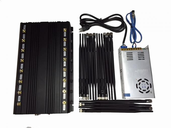 EST-502F16 Professional OEM 16 Bands All Signal Blocker Cell Phone / WIFI / GPS / VHF / UHF / 315 /433/868 Signal Jammer