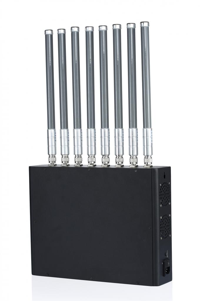 40W Medium Power 1-50m 8 Channels Cell Phone Signal Jammer for Prison