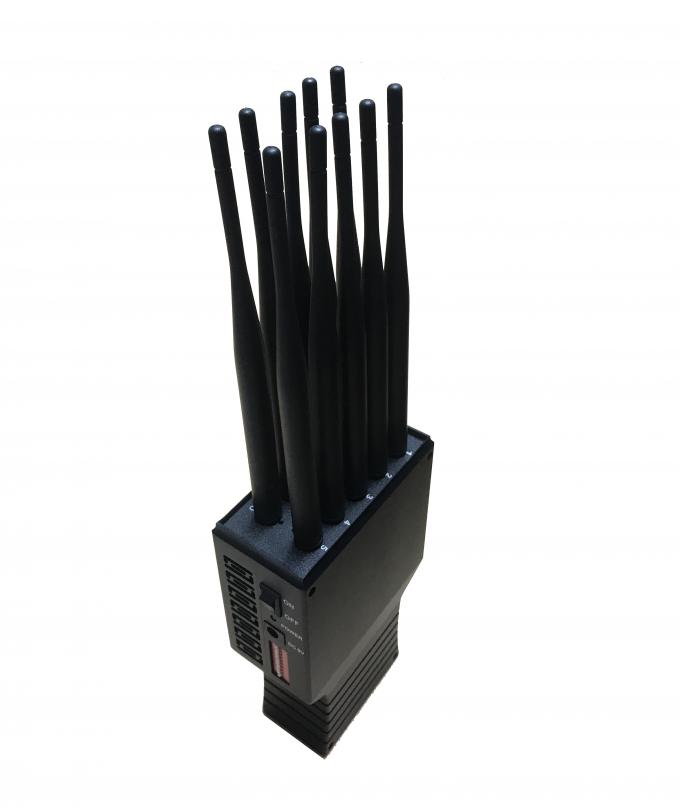 30dBm Handheld Cell Phone Signal Jammer Adjustable 10 Bands 3G WIFI GSM CDMA Signal Blocker