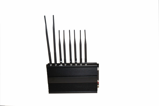 15W 4G WIFI Cell Phone Signal Jammer / Blocker Black For Auditoriums